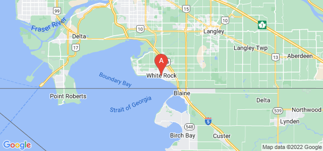 map of White Rock, Canada
