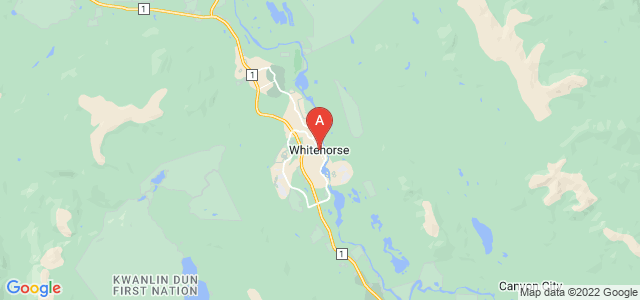 map of Whitehorse, Canada