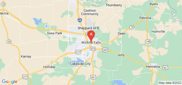 map of Wichita Falls, United States of America
