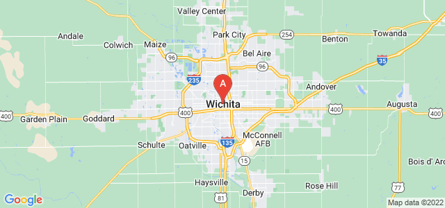 map of Wichita, United States of America