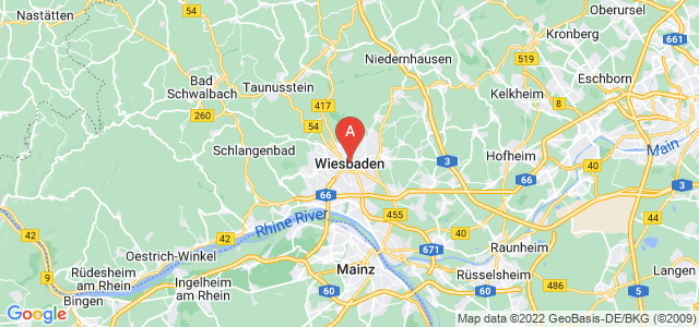 map of Wiesbaden, Germany