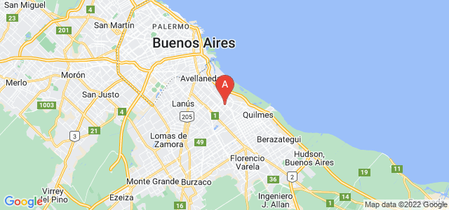 map of Wilde, Argentina