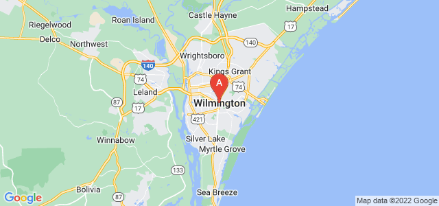 map of Wilmington, United States of America