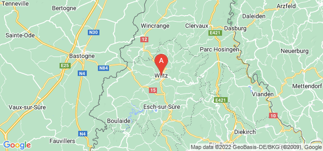 map of Wiltz, Luxembourg
