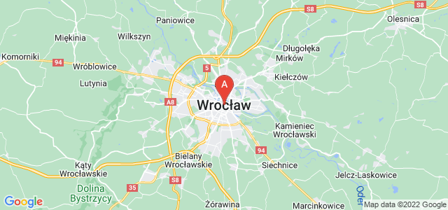 map of Wrocław, Poland