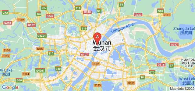 map of Wuhan, China