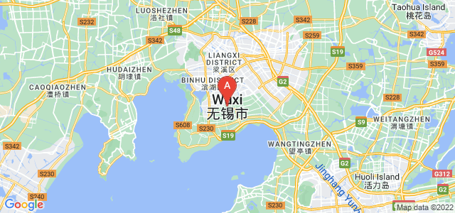 map of Wuxi, China