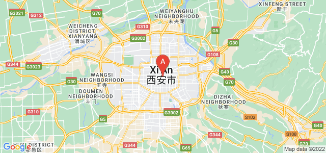 map of Xi'an, China