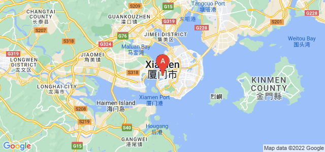 map of Xiamen, China