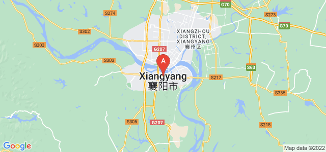 map of Xiangyang, China