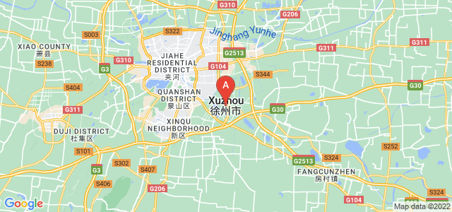 map of Xuzhou, China