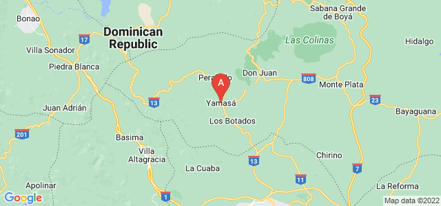 map of Yamasá, Dominican Republic