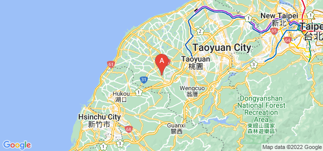 map of Yangmei, Taiwan