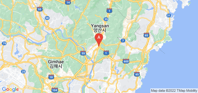 map of Yangsan, South Korea