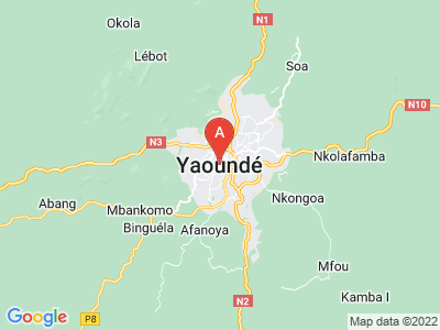 map of Yaoundé, Cameroon