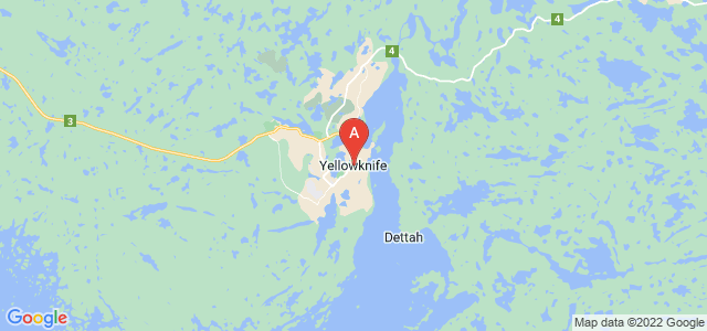 map of Yellowknife, Canada