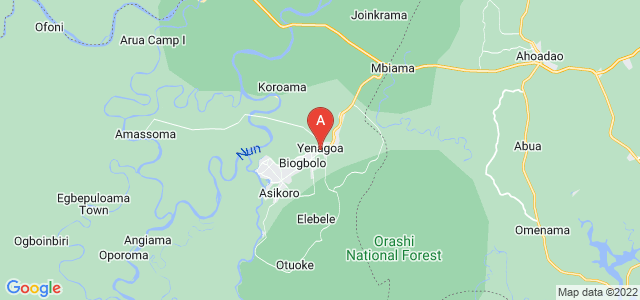 map of Yenagoa, Nigeria