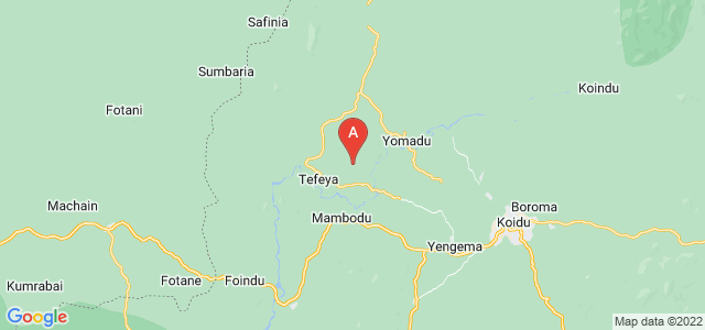 map of Yengema, Sierra Leone