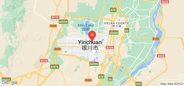 map of Yinchuan, China