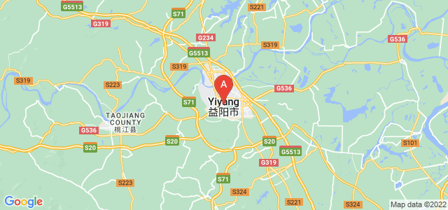 map of Yiyang, China