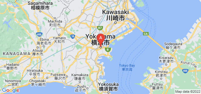 map of Yokohama, Japan