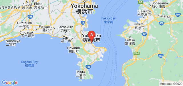 map of Yokosuka, Japan