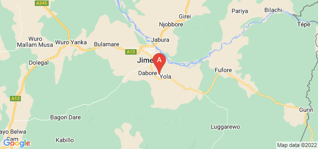 map of Yola, Nigeria