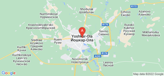 map of Yoshkar-Ola, Russia