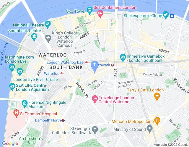 Location map for Young Vic