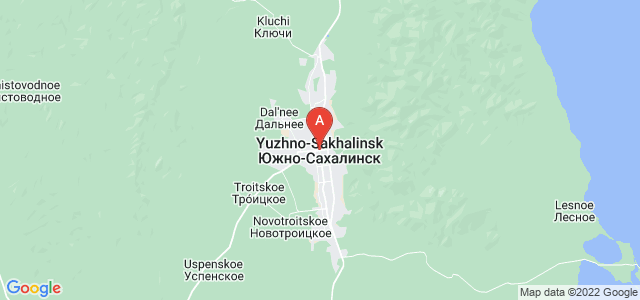 map of Yuzhno-Sakhalinsk, Russia