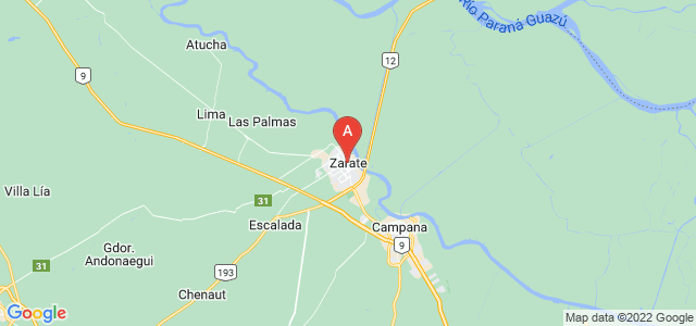 map of Zárate, Argentina