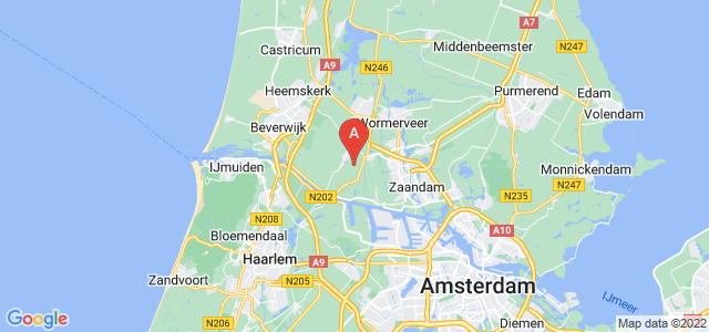 map of Zaanstad, Netherlands