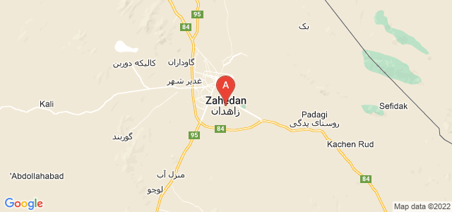 map of Zahedan, Iran