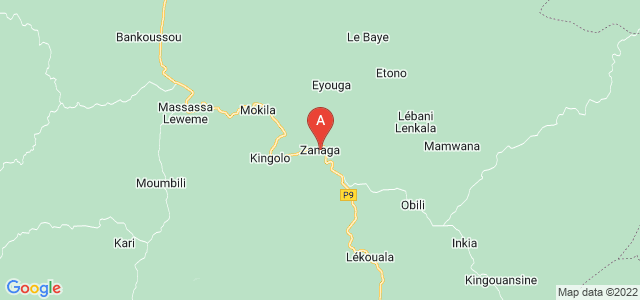 map of Zanaga, Republic of the Congo