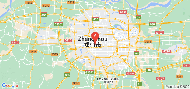 map of Zhengzhou, China