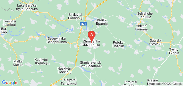 map of Zhmerynka, Ukraine