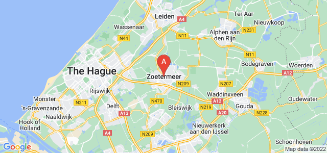 map of Zoetermeer, Netherlands