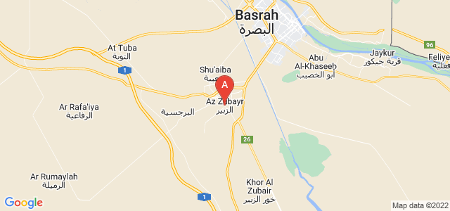 map of Zubayr, Iraq