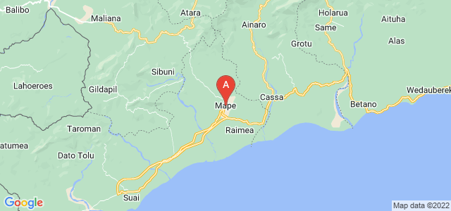 map of Zumalai, East Timor