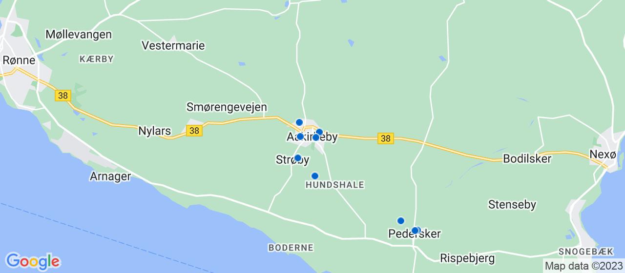 murerfirmaer i Aakirkeby