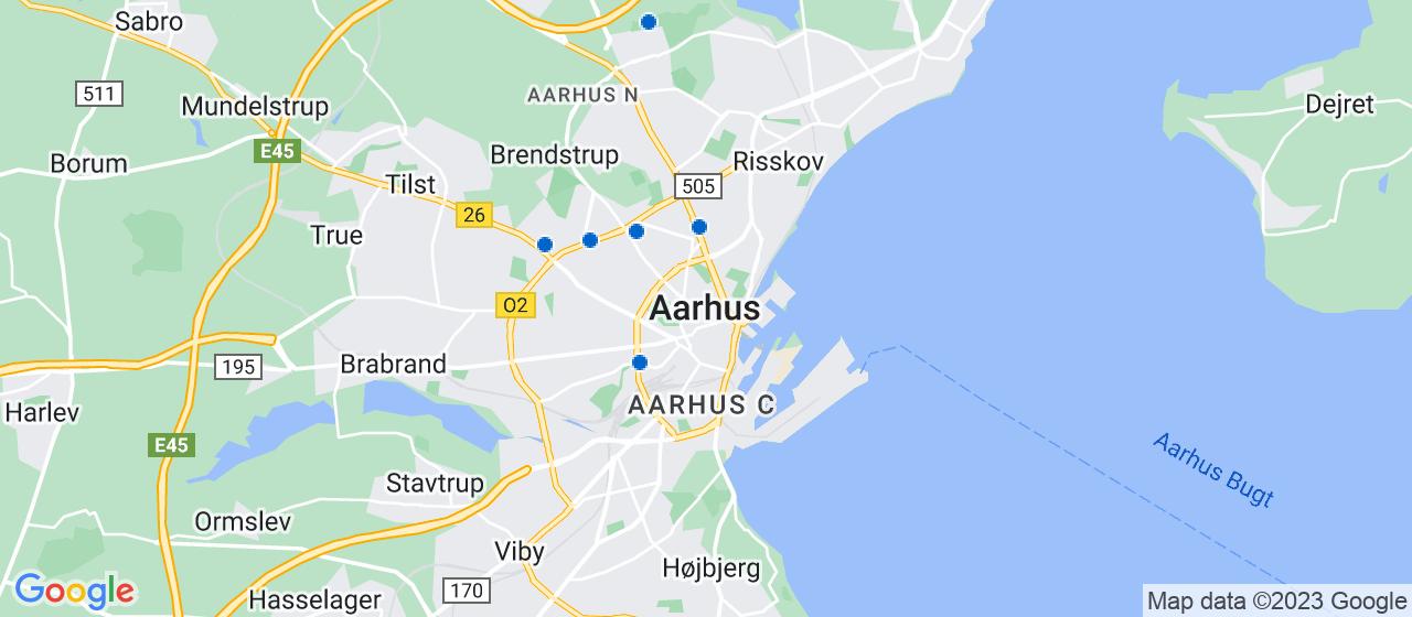 glarmesterfirmaer i Aarhus