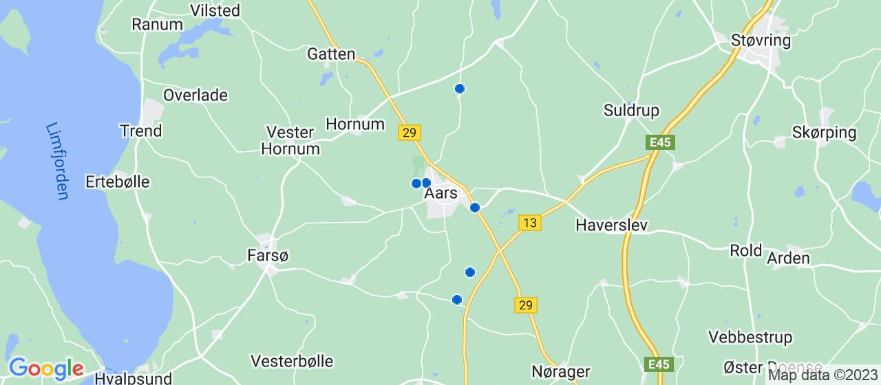 anlægsgartnerfirmaer i Aars