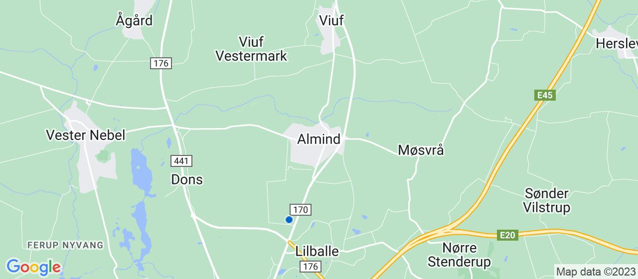 flyttefirmaer i Almind