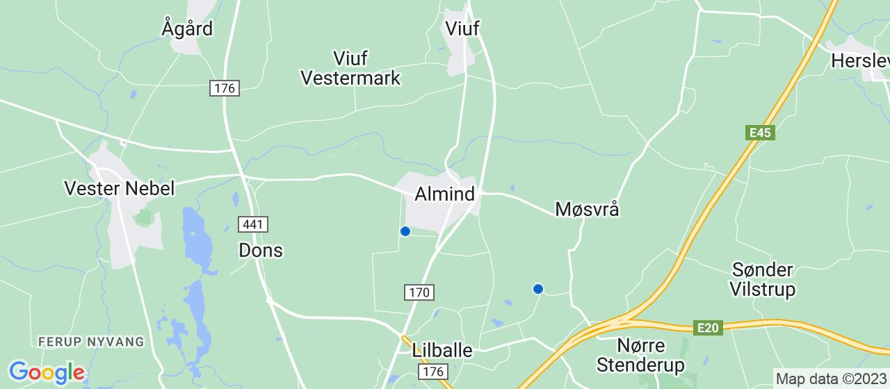 kloakfirmaer i Almind