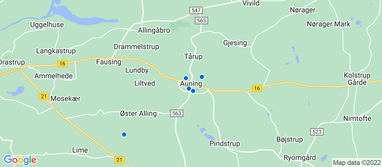 murerfirmaer i Auning