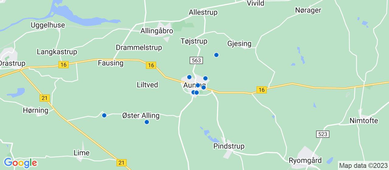 håndværkerfirmaer i Auning