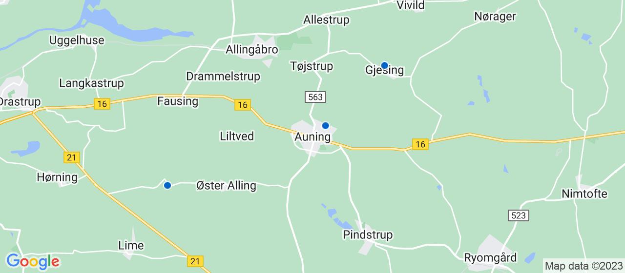 anlægsgartnerfirmaer i Auning