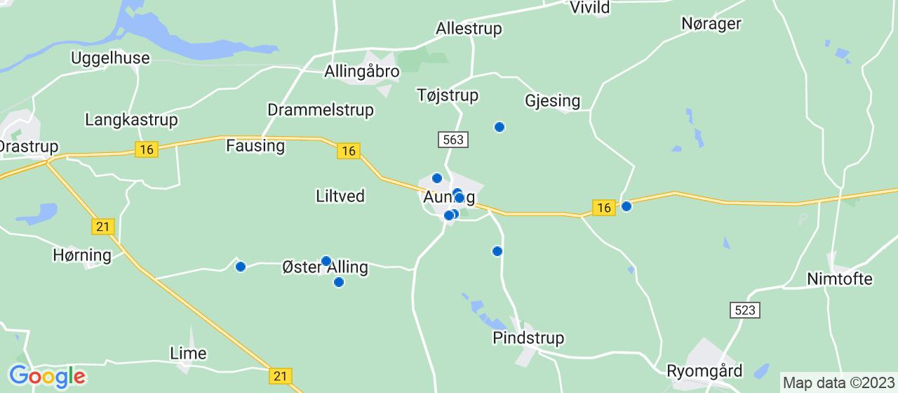 entreprisefirmaer i Auning