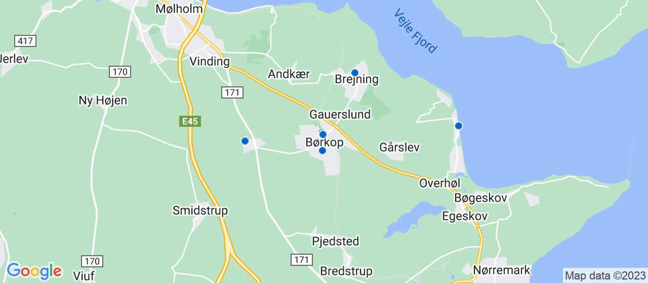 ejendomsmæglerfirmaer i Børkop