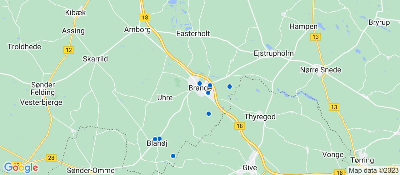 elektrikerfirmaer i Brande
